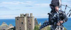 Música de gaita celta alegre. Tradición escocesa hecha música.