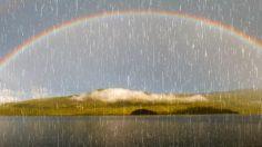 Aliviar el estrés con música relajante y sonidos de lluvia.