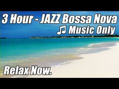 Jazz latino relajante, bossa nova instrumental de ritmo caribeño.