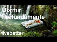Música muy relajante para dormir con sonidos de agua de arroyo y cascada.